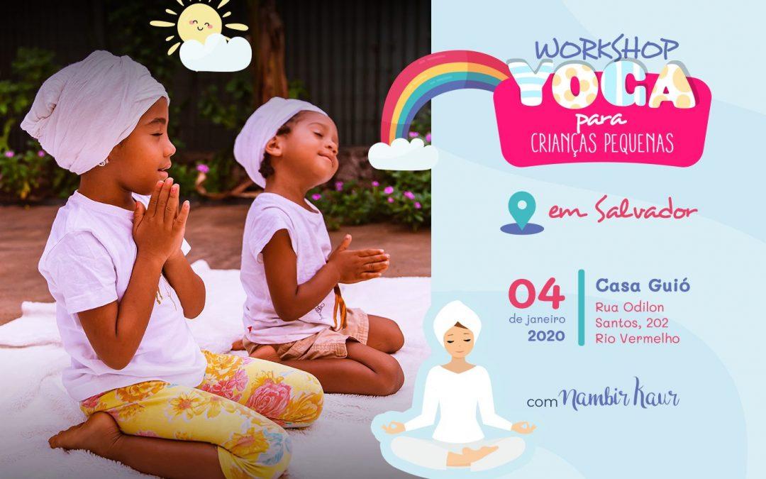 Workshop de Yoga para crianças pequenas | em Salvador