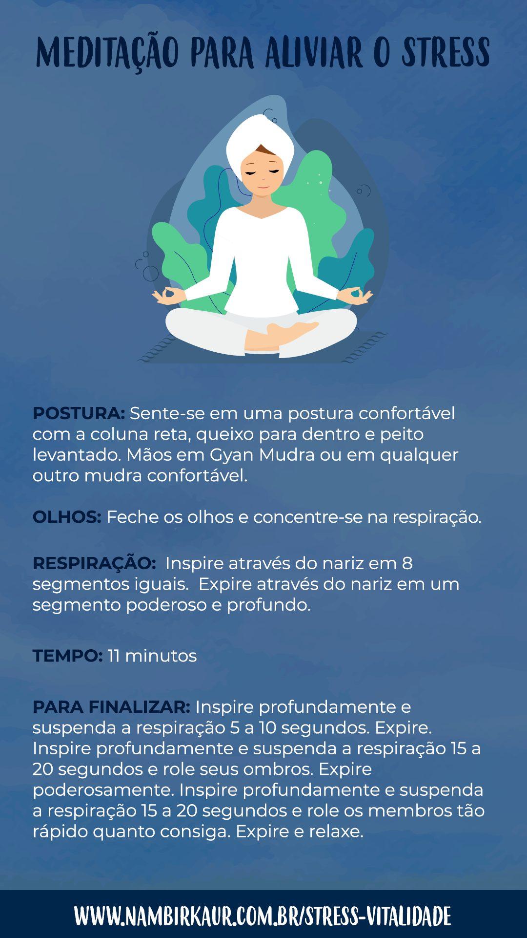 Meditação para aliviar o stress