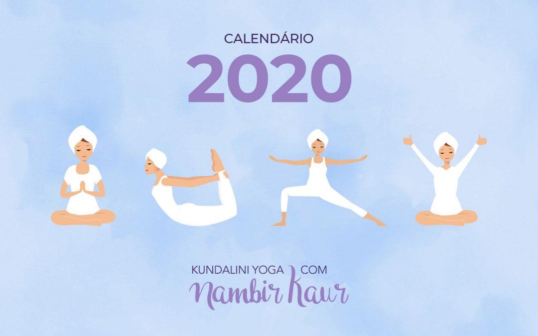 Calendário 2020 | Kundalini Yoga com Nambir Kaur